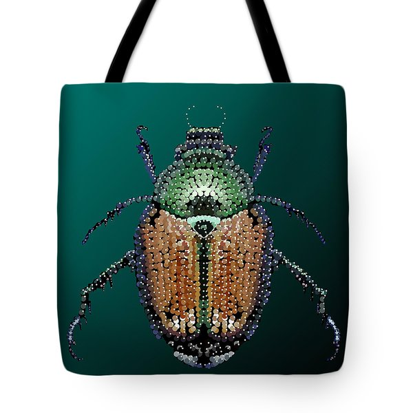 Japanese Beetle Bedazzled II Tote Bag