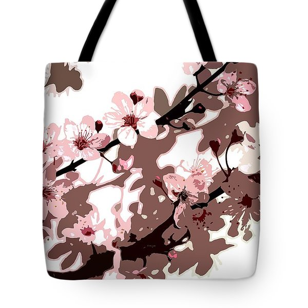 Japanese Blossom Tote Bag by Sarah OToole