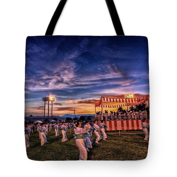 Japanese Bon Adori Festival Tote Bag