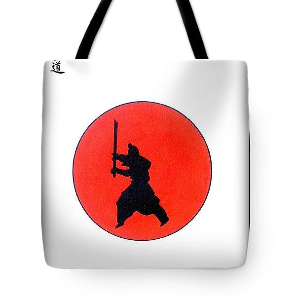 Japanese Bushido Way Of The Warrior Tote Bag by Gordon Lavender