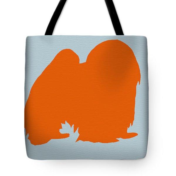 Japanese Chin Orange Tote Bag by Naxart Studio