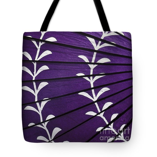 Japanese Folk Art - Purple Parasol Tote Bag