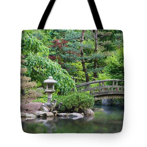 Japanese Garden Tote Bag by Adam Romanowicz