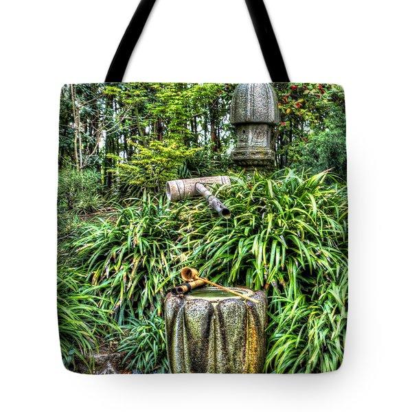 Japanese Garden Fountain Tote Bag by Heidi Smith