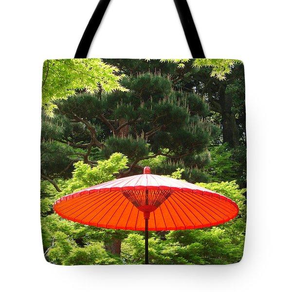 Japanese Garden In Nara Tote Bag