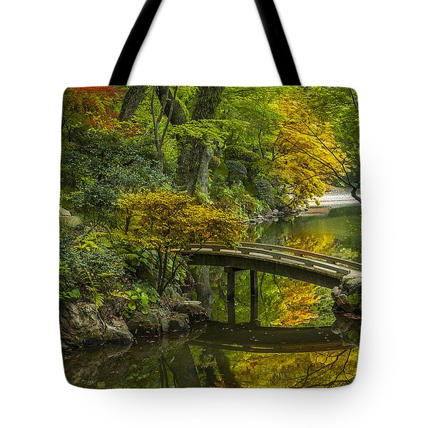 Tote Bag featuring the photograph Japanese Garden by Sebastian Musial