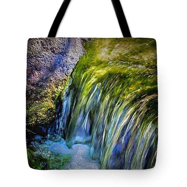Japanese Garden Waterfall Tote Bag