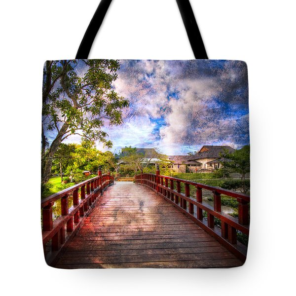 Japanese Gardens Tote Bag by Debra and Dave Vanderlaan