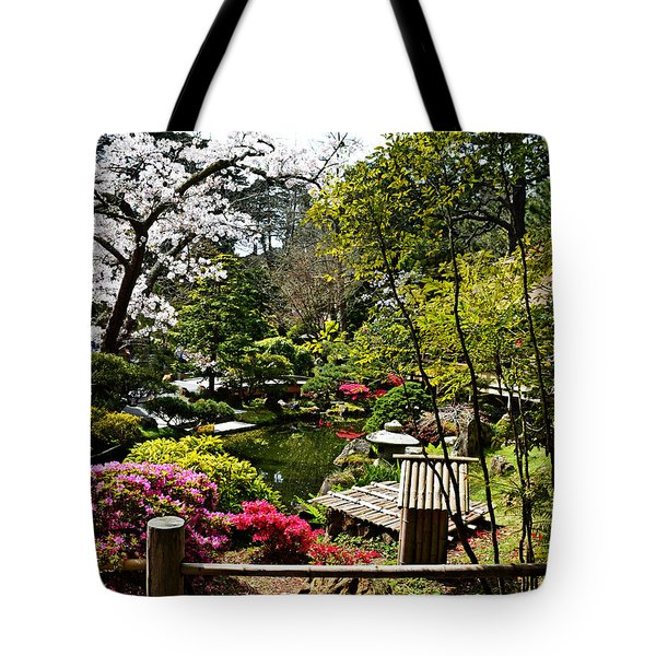 Japanese Gardens Tote Bag by Holly Blunkall