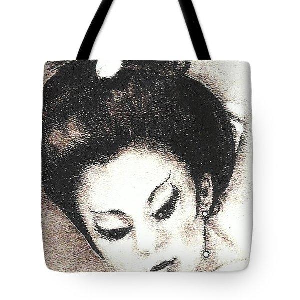 Japanese Girl. Tote Bag by Francine Heykoop