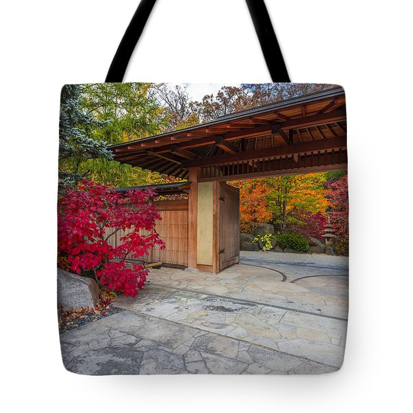 Tote Bag featuring the photograph Japanese Main Gate by Sebastian Musial