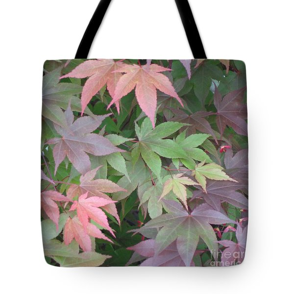 Japanese Maple Leaves Tote Bag by Christina Verdgeline