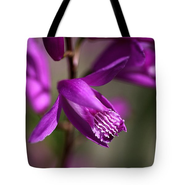 Tote Bag featuring the photograph Japanese Orchid by Joy Watson