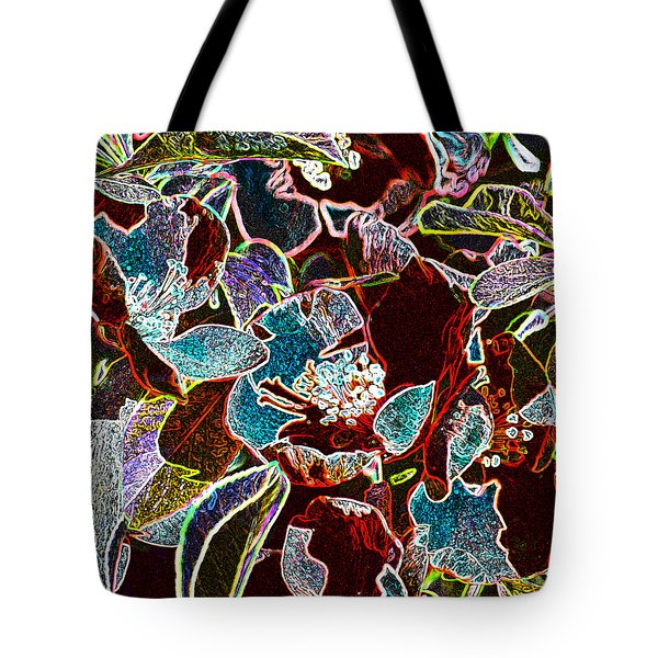 Japanese Quince In Abstract Tote Bag
