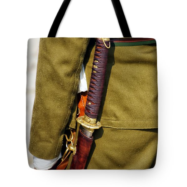Japanese Sword Ww II Tote Bag by Thomas Woolworth