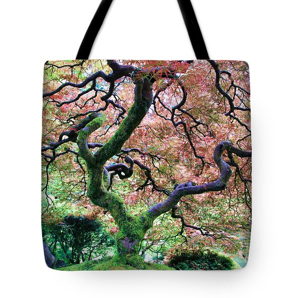 Japanese Tree In Garden Tote Bag