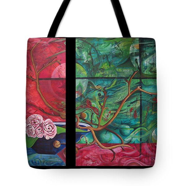 Tote Bag featuring the painting Japanesse Flower Arrangment by Joshua Morton