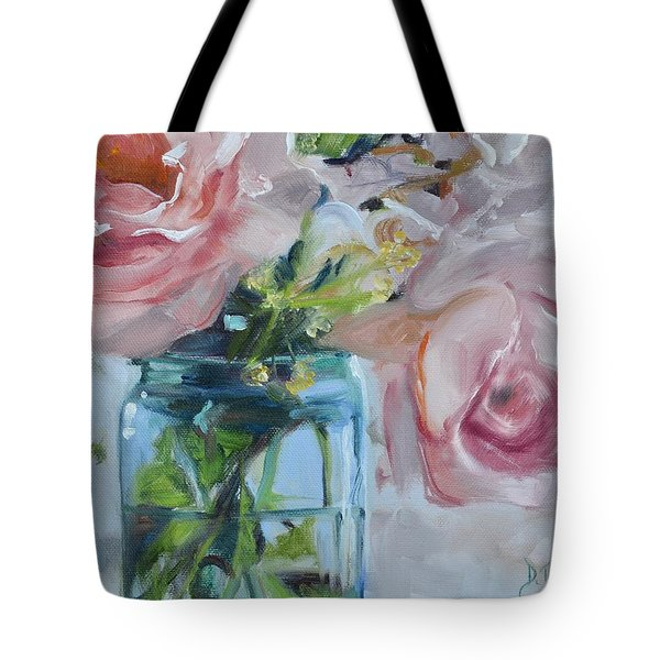 Jar Of Pink Tote Bag by Donna Tuten
