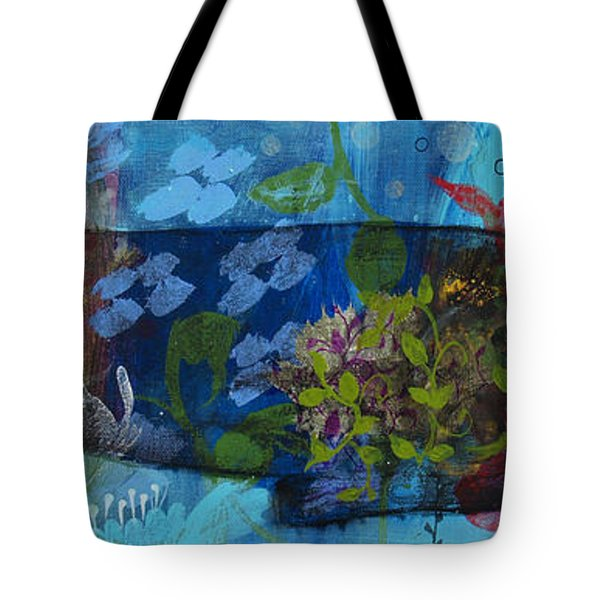 Tote Bag featuring the painting Jardine Cat by Robin Maria Pedrero