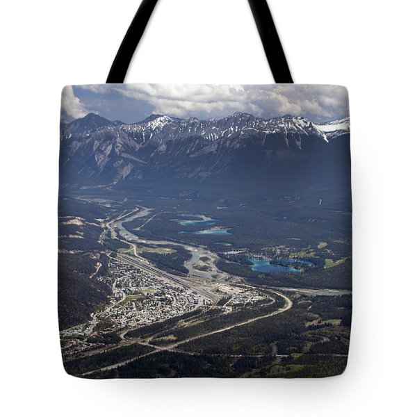 Jasper And The Athabasca River Tote Bag