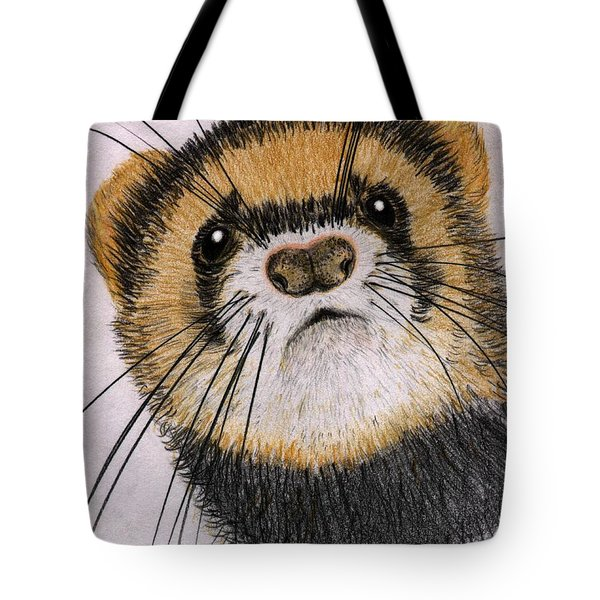 Tote Bag featuring the drawing Jasper by Barbara Moignard