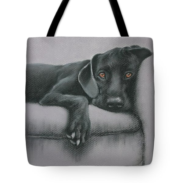 Tote Bag featuring the drawing Jasper by Cynthia House