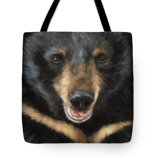 Jasper Moon Bear - In Support Of Animals Asia Tote Bag by Rachel Stribbling