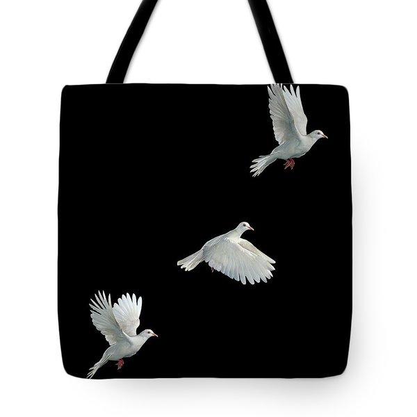 Java Dove In Flight Tote Bag by Stephen Dalton