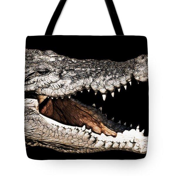 Jaws Tote Bag by Douglas Barnard