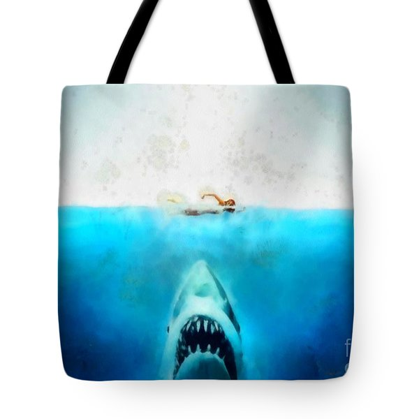 Tote Bag featuring the painting Jaws by Elizabeth Coats