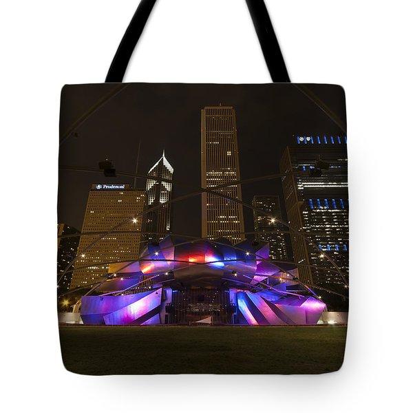 Jay Pritzker Pavilion Chicago Tote Bag by Adam Romanowicz