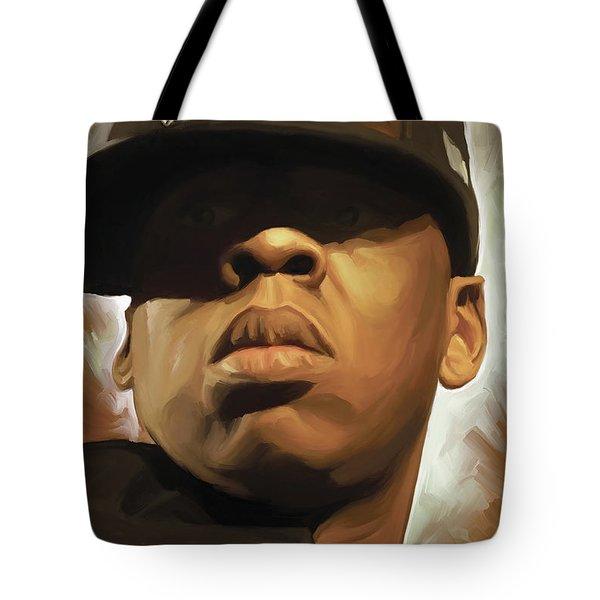 Jay-z Artwork Tote Bag by Sheraz A