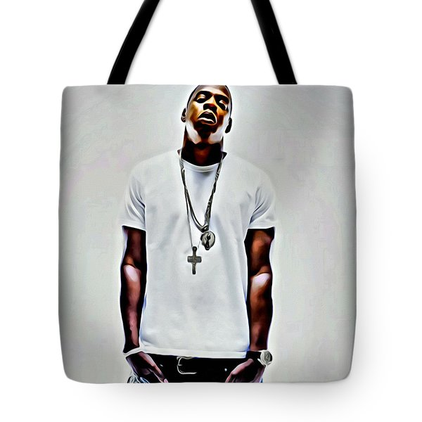 Jay-z Portrait Tote Bag