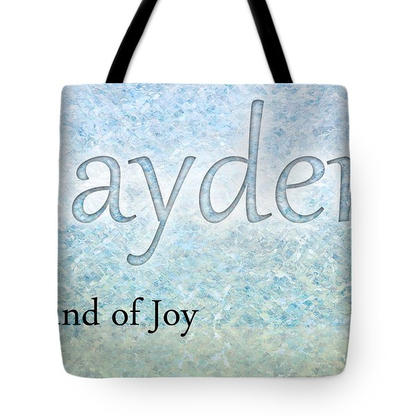 Jayden - Sound Of Joy Tote Bag by Christopher Gaston