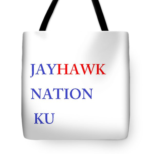 Jayhawk Nation Tote Bag by Aaron Martens