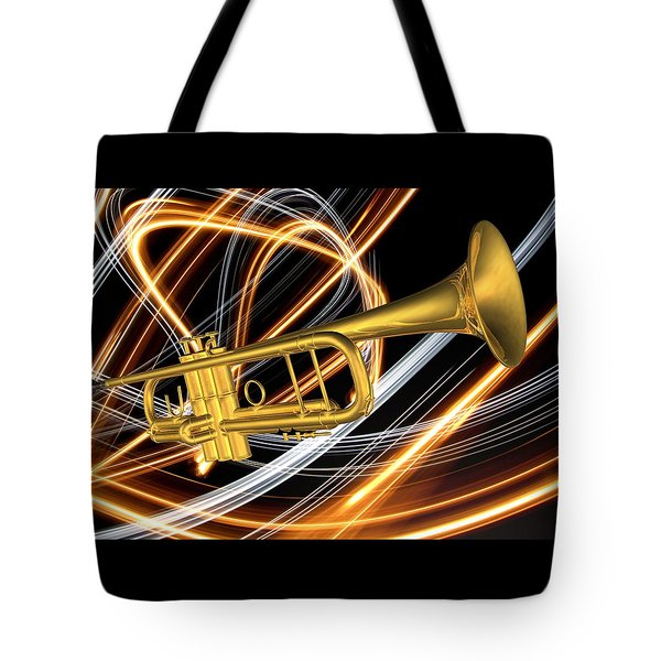 Jazz Art Trumpet Tote Bag