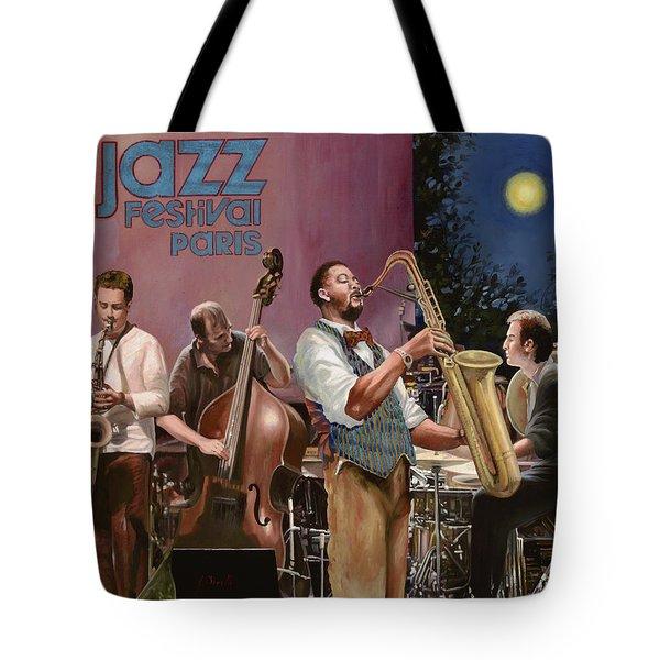 jazz festival in Paris Tote Bag