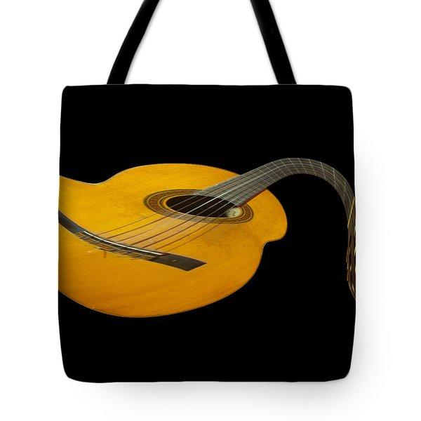 Jazz Guitar 2 Tote Bag by Debra and Dave Vanderlaan