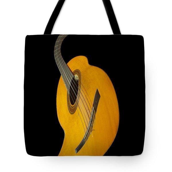 Jazz Guitar Tote Bag by Debra and Dave Vanderlaan