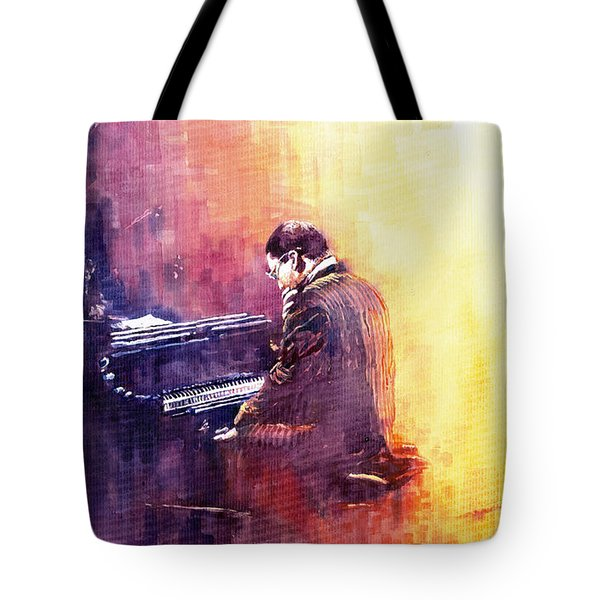 Jazz Herbie Hancock  Tote Bag by Yuriy  Shevchuk