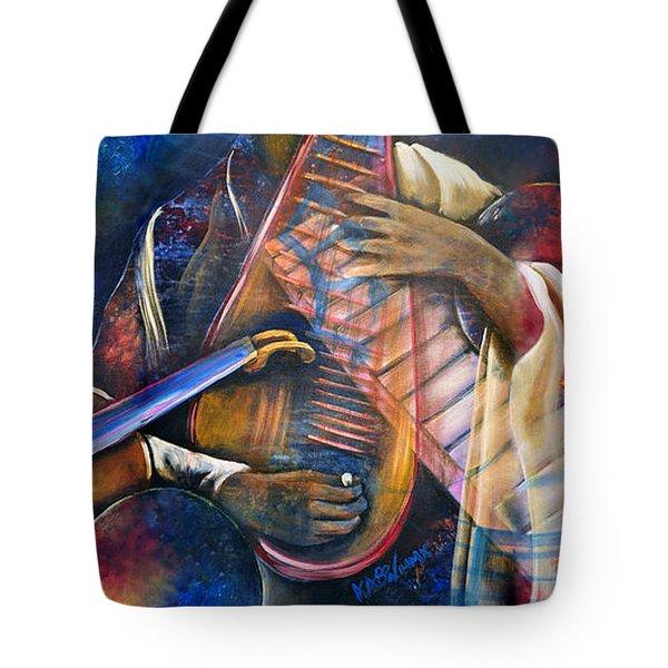 Jazz In Space Tote Bag by Ka-Son Reeves