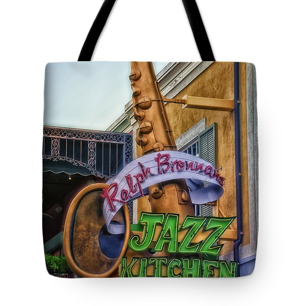 Jazz Kitchen Signage Downtown Disneyland Tote Bag by Thomas Woolworth
