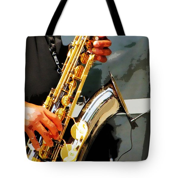 Jazz Man Tote Bag by John Freidenberg