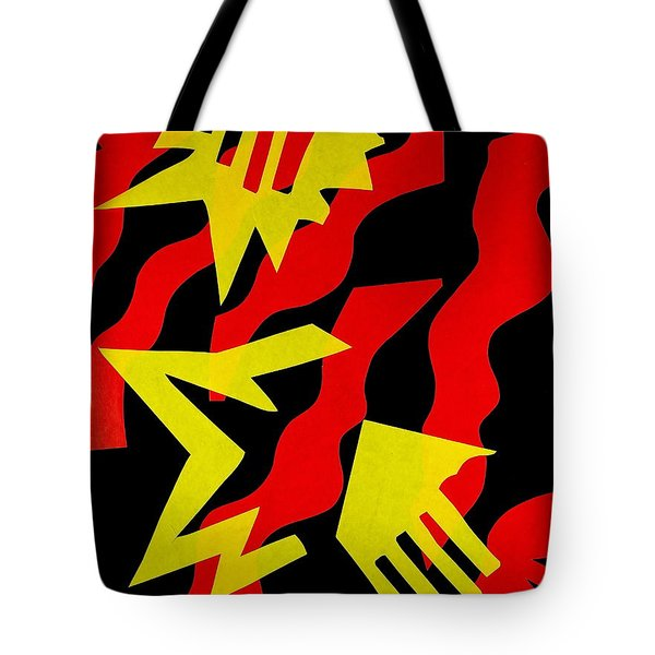 Tote Bag featuring the mixed media Jazz by Michele Myers