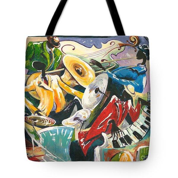 Jazz No. 3 Tote Bag by Elisabeta Hermann