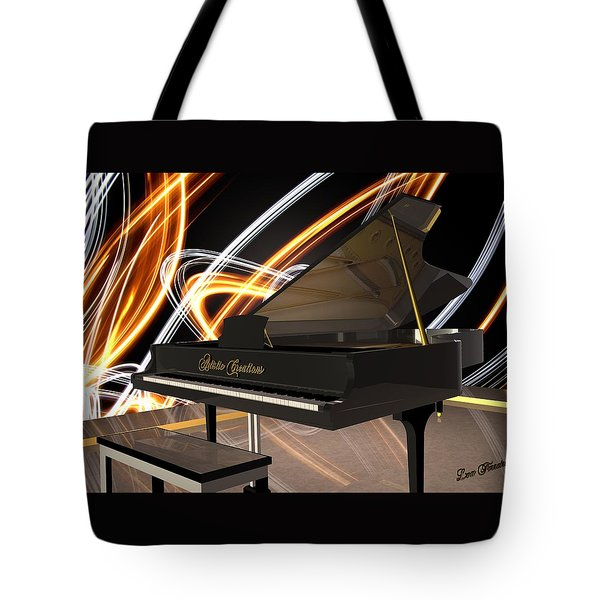 Jazz Piano Bar Tote Bag