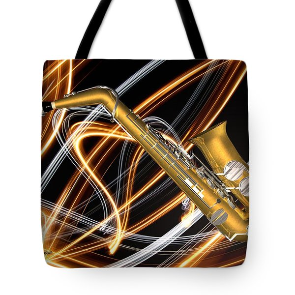 Jazz Saxaphone  Tote Bag by Louis Ferreira