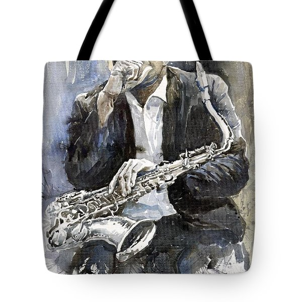 Jazz Saxophonist John Coltrane Yellow Tote Bag