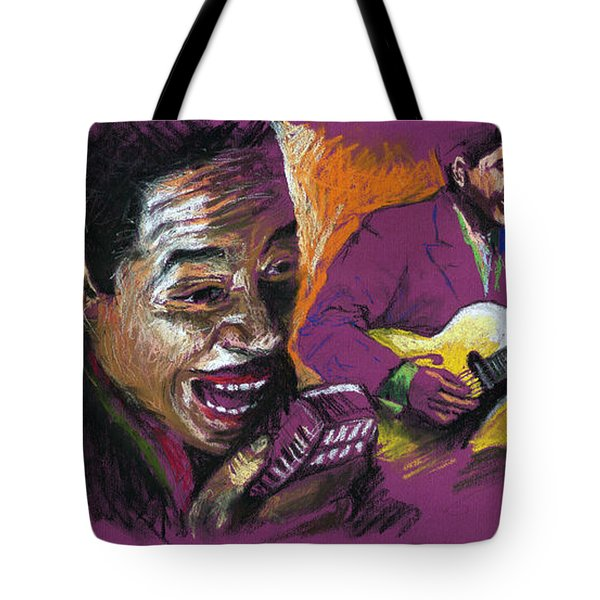 Jazz Songer Tote Bag by Yuriy  Shevchuk