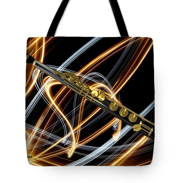 Jazz Soprano Sax Tote Bag